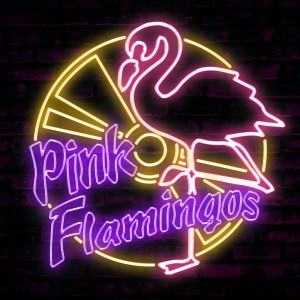 Neon-Flamingos